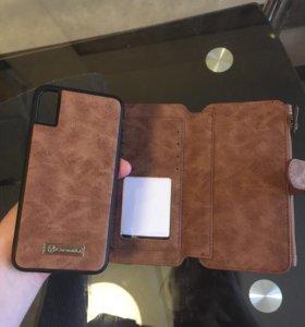 Кейс для IPhone X, портмоне, визитница.Новый.