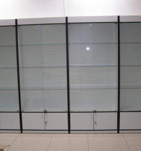 4 витрины с подсветкой