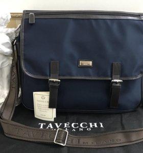 Мужская сумка-портфель Tavecchi оригинал, новая