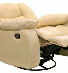 Кресло-реклайнер из натуральной кожи