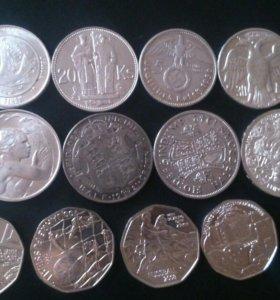 Монеты Серебро Австралии Австрии и др