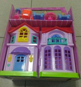 Дом для кукол с мебелью и аксессуарами