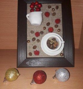 """Панно """"Зимний кофе"""""""