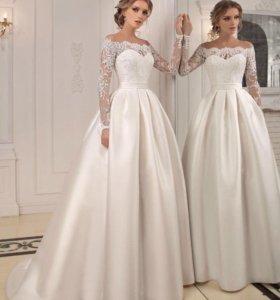 Свадебное платье, подъюбник, будуарное платье