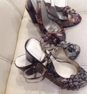 Туфли р.40, босоножки