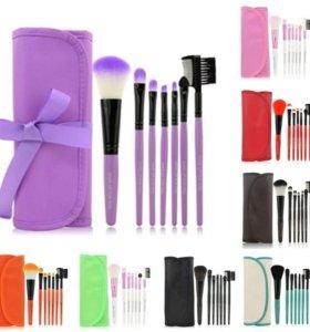 Набор кистей для макияжа в чехле 7 штук