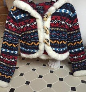 Пальто для девочки 7 лет