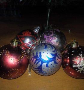 Новогодние шары. Ручная роспись