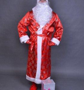 Новогодний костюм деда мороза и снегурочки комплек