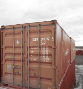 20-ти фут контейнер б/у, морской