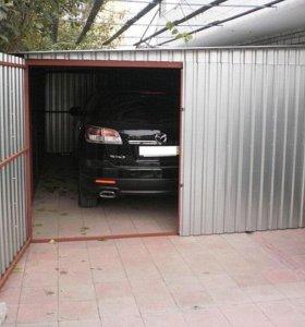 Металлический гараж-тент укрытие.