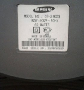 Телевизор Samsung cs21k2q