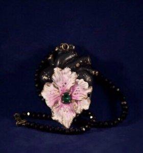 Ожерелье (сердце, орхидея)