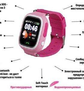 Умные часы телефон для детей с GPS Q80(Сенсор)