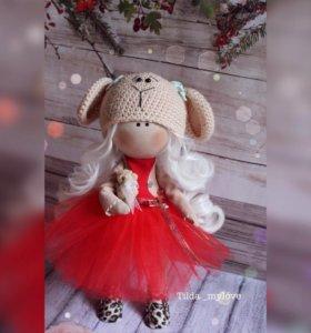 Текстильная интерьерная кукла 35 см