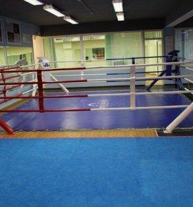 Ринг для бокса на упорах
