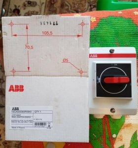 Трёхполюсный рубильник с рукояткой ABB OT P16B3P