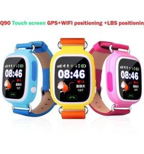 Умные часы телефон для детей GPS Q90(Сенсор,Wifi)