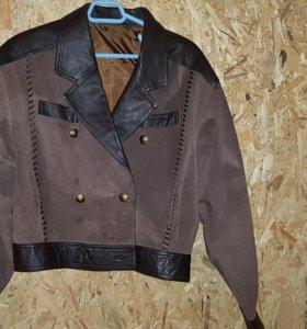 Новая Куртка кожанная(ОБМЕН)
