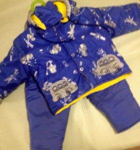 Детские зимние куртка + штаны, на 1,5-2 года