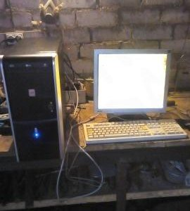 Компьютер, экран, мышь, клавиатура