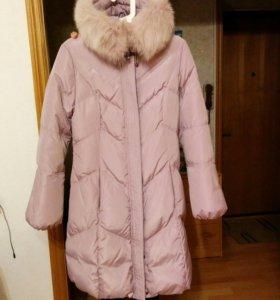 Пуховик-пальто теплый