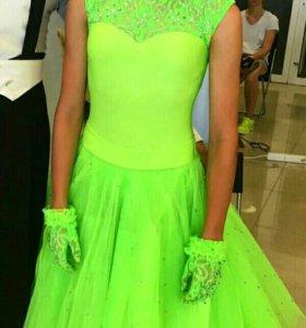 Платье для спортивно-бальных танцев стандарт Ю2