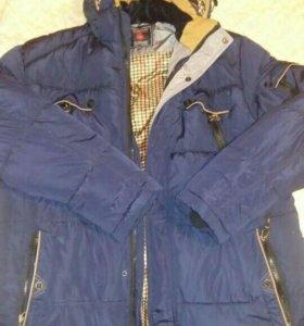 Мужская куртка почти новая одета 1 раз, р66-68