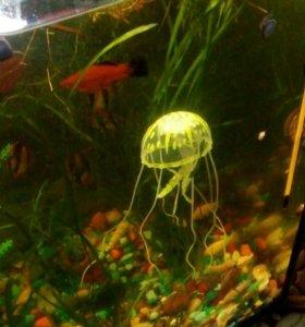 """Аквариумный декор """"Светящиеся медузы"""""""
