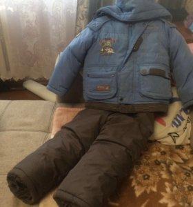 Зимний костюм на мальчика 4-5 лет состояние отличн