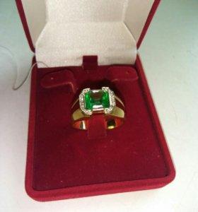 Кольцо изумруд с бриллиантами