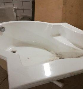 Ванна угловая акриловая 140см