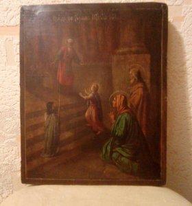 Старинная икона, 31,5 х 26 см.