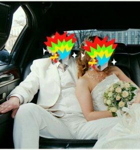 Мужской костюм тройка, свадебный костюм+рубашка