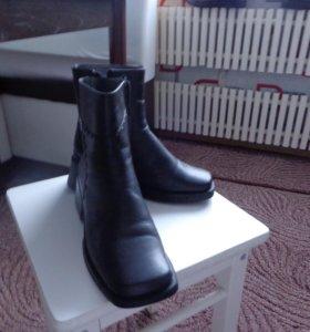 Зимние кожаные ботинки НАТУРАЛЬНАЯ ЦИГЕЙКА