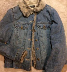 Джинсовая утеплённая куртка