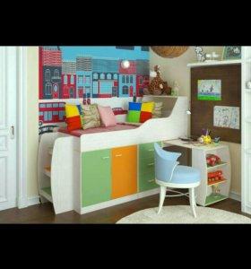 Детская кровать минимакс с матрасом