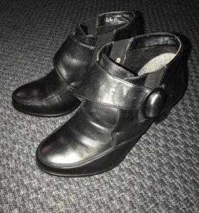 Ботильоны (ботинки) кожа 38 размер