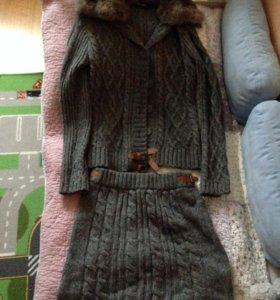 Костюм (шерстяная юбка и пиджак) Tintoretto