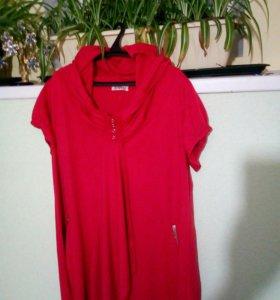 Почти новое платье, плотный трикотаж .56,54р.