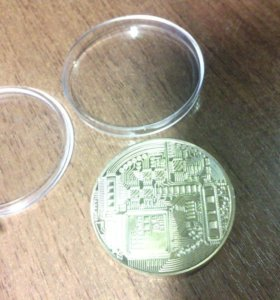 Монета Bitcoin. Коллекционная