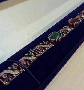 Новое. Комплект браслет серебро 925 и серьги