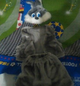 Новогодний костюм мальчика-зайчика