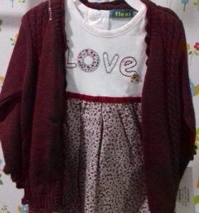 Платье и кофта на девочку. Новый
