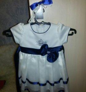 Платье нарядное с повязкой