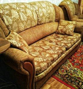 Продам диван и 2 кресла-кровать