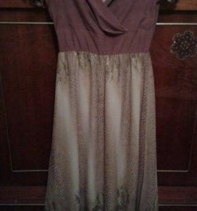 платье шелк в пол