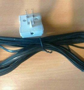 Телефонный кабель+штекер