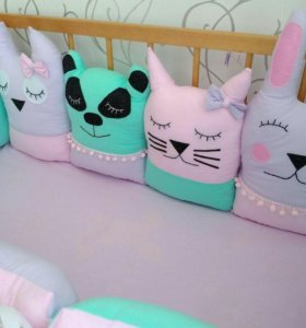 Бортики-зверюшки в детскую кроватку