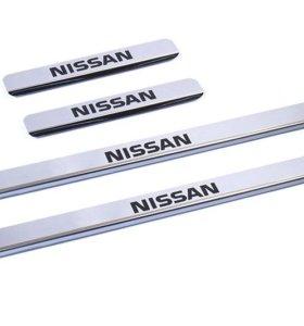 Накладки внутренних порогов для NISSAN Qashqai+